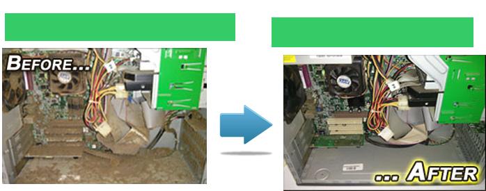 Limpieza reparación mantenimiento PC Notebooks